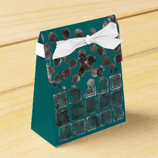 Abstract Black Dots & Squares 170254/2 Gift Box