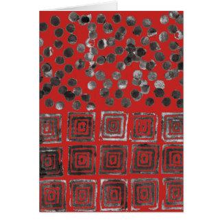 Abstract Black Dots & Squares 170254 Greeting Card