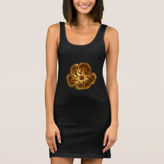 Abstract Black Floral Women's Jersey Tank Dress