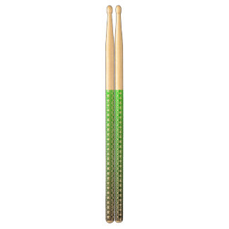 Abstract black&green drumsticks