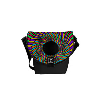 abstract black hole swirl pattern commuter bag