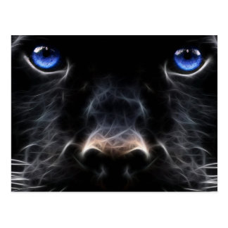 Abstract Black Labrador Art Postcard