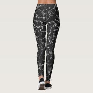 Abstract Black Marble Yoga Leggings