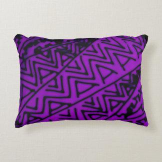 Abstract Black/Purple Design #3 Decorative Pillow
