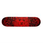 "Abstract Black/Red ""Bear"" Skateboard"