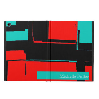 Abstract Black Red Blue Ipad Protective Case Cover