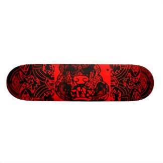"Abstract Black/Red ""Pitbull"" Skateboard"