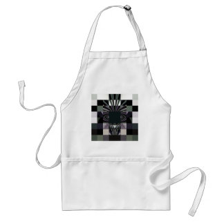 abstract black standard apron