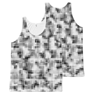 Abstract Black White Gray All-Over-Print Tank Top