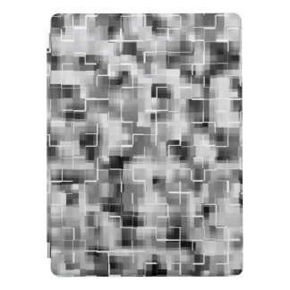 Abstract Black White Gray iPad Pro Cover