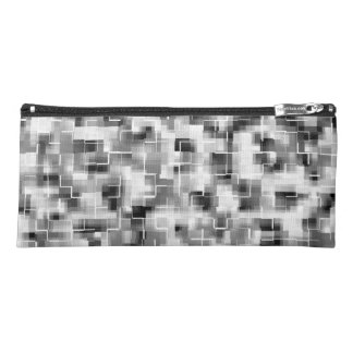 Abstract Black White Gray Pencil Case