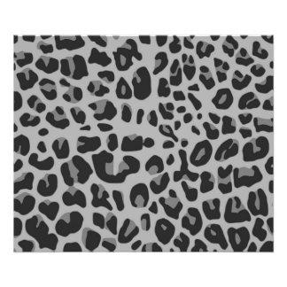 Abstract Black White Hipster Cheetah Animal Print Photo Print