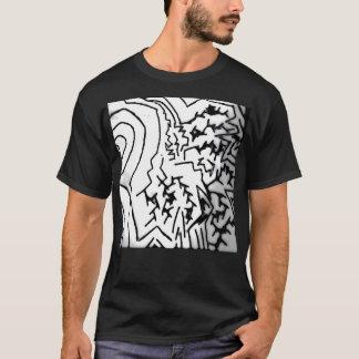 "Abstract Black/White ""Lightning"" T-Shirt"" T-Shirt"