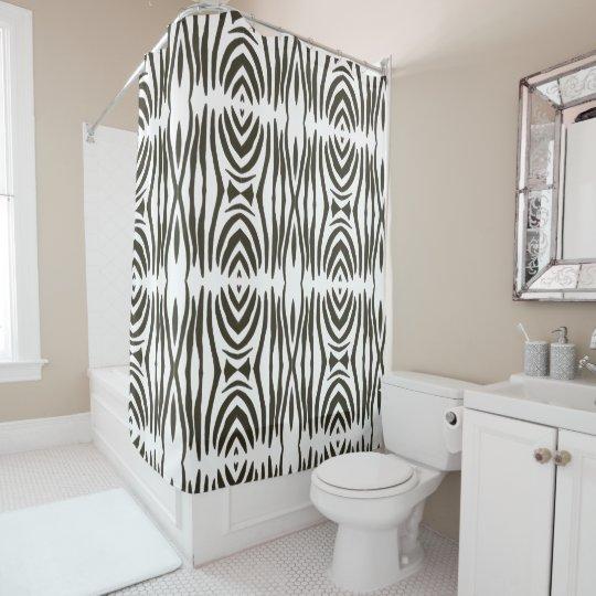 Abstract Black White Zebra Stripes Shower Curtains