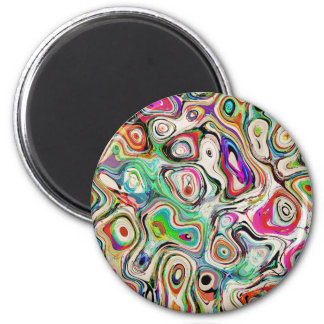 Abstract Blend of Colors Magnet