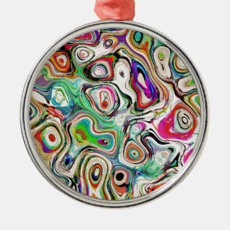 Abstract Blend of Colors Metal Ornament