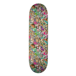 Abstract Blend of Colors Skate Board Deck