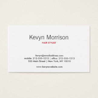 ABSTRACT BLOSSOMS WHITE/RED BUSINESS CARD