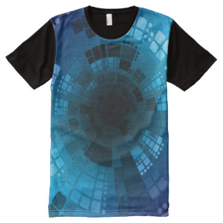 Abstract Blue All-Over-Print T-Shirt