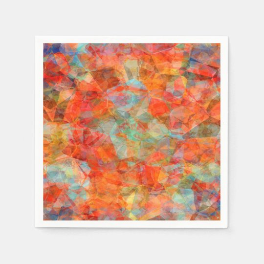 Abstract Blue And Brown  Pattern Paper Napkins