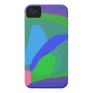 Abstract Blue and Green Composition iPhone 4 Case-Mate Cases
