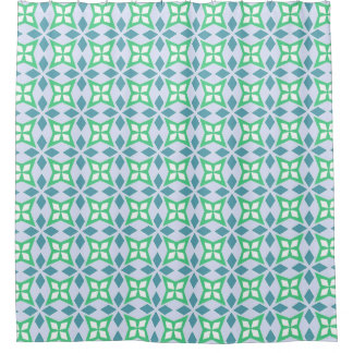 Abstract blue and green geometric pattern