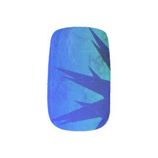 Abstract Blue and Green Mix Nail Art