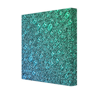 Abstract Blue And Green Shapes Canvas Print