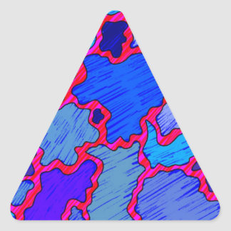 Abstract Blue and Pink Triangle Sticker