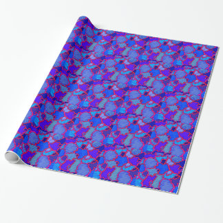 Abstract Blue and Pink Wrapping Paper