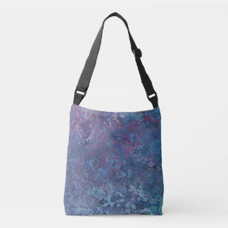 Abstract Blue and purple colorful design Crossbody Bag