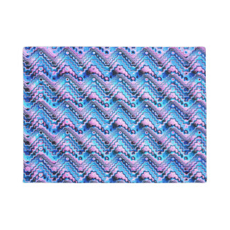 Abstract Blue And Purple Pattern Doormat