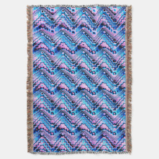 Abstract Blue And Purple Pattern Throw Blanket