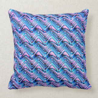 Abstract Blue And Purple Pattern Throw Pillow
