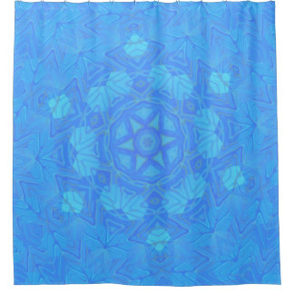 Abstract Blue and Turquoise Snowflake
