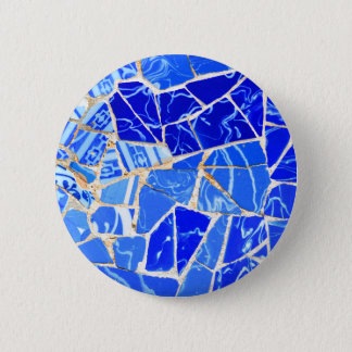 Abstract blue background 2 inch round button