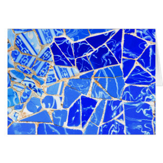 Abstract blue background card