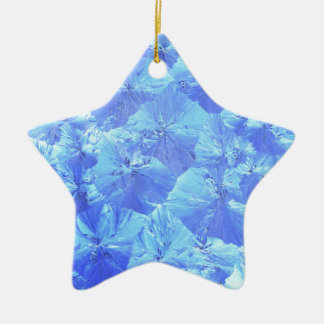 Abstract blue background ceramic star ornament