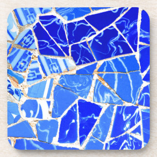 Abstract blue background coaster