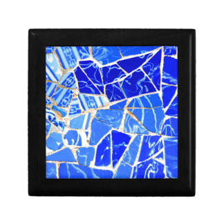 Abstract blue background gift box