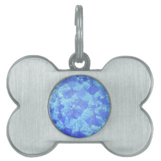 Abstract blue background pet ID tag