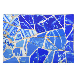 Abstract blue background placemat