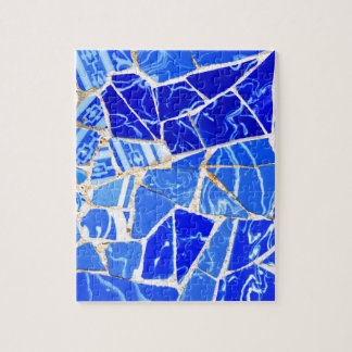 Abstract blue background puzzles