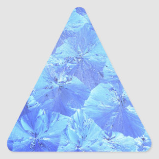 Abstract blue background triangle sticker