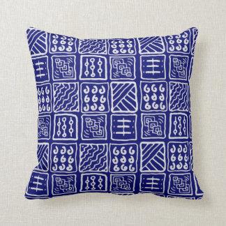 Abstract Blue Batik Pillow