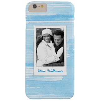 Abstract Blue Blue Texture | Add Photo Barely There iPhone 6 Plus Case