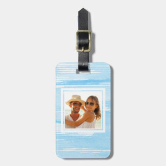 Abstract Blue Blue Texture | Add your Name Luggage Tag