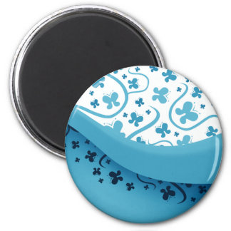 Abstract Blue Butterflies Magnet Refrigerator Magnets