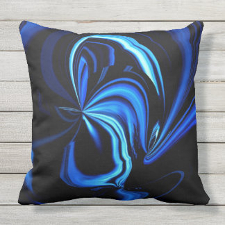 Abstract Blue Butterfly Throw Pillow