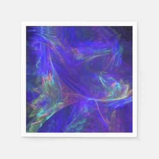 Abstract Blue Colorful Mists Paper Napkin